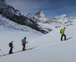 Spring Heliskiing and Skitouring Under the Matterhorn